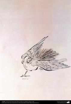 """""""A águia"""" - Miniatura de Ostad Hossein Behzad, Coleção privada de Teerã, 1964 - 211"""