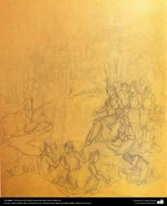 """A visita"" - Miniatura do Ostad Hossein Behzad, Museu Behzad - 216"