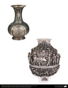 Orfebrería iraní (Qalamzani), Vasijas de plata. Artista: Maestro N. Mantashi y Maestro H. Arevan  -221