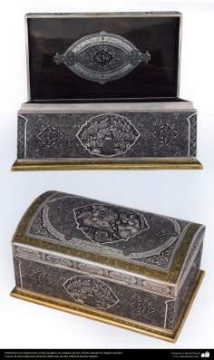 Ourivesaria iraniana (Qalamzani), Cofre de prata recoberto de ouro - 41