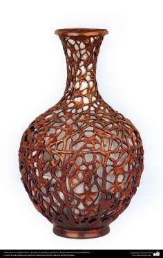 Orfebrería iraní (Qalamzani), Lámpara de plata con grabados -58