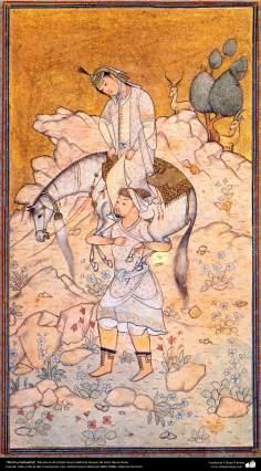Chirin y Farhad (5), Miniatura de Ostad Hosein Behzad, Museo de artes decorativas -74
