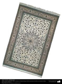Art islamique - artisanat - art du tissage de tapis  - tapis persan- Isfahan -Iran en 1951