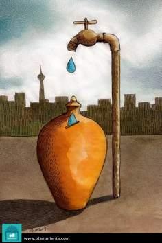 Caricatura - Economizando água para o futuro