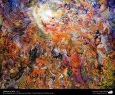 """Praising the Lord"" (total) 2011 - Masterpieces of Persian miniature - by Professor Mahmud Farshchian"