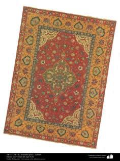 イスラム美術 - 工芸 - カーペット織りアート - ペルシャの敷物, ガーデンカーペット、Kerman州、16世紀 - 13