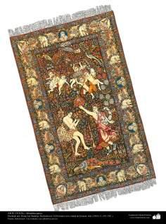 イスラム美術 - 工芸 - カーペット織りアート - ペルシャの敷物- ケレマン州、1911年)-169