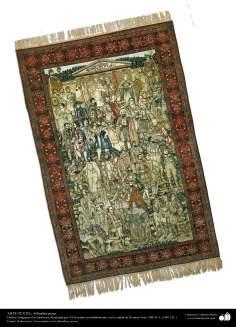 Alfombra persa realizada en la ciudad de Kerman – Irán en 1901(127)