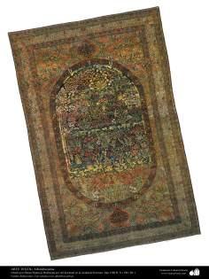 Alfombra realizada en la ciudad de Kerman en 1901- 123