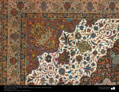 Ein Teil eines persischen Teppichs, entworfen in der Stadt von Yezd – Iran in 1911 - Islamische Kunst - Kunsthandwerk - Textilkunst - persische Teppiche