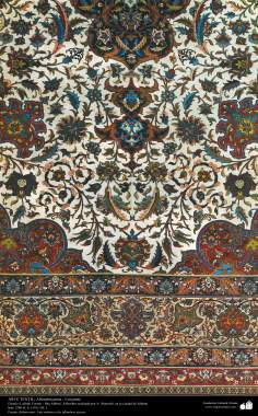 Alfombra persa, una parte, realizada en la ciudad de Isfahan – Irán en 1911