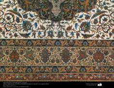 Persian carpet made in the city of Isfahan - in 1911