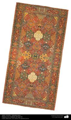 Alfombra persa – Datada en los mediados del siglo XI