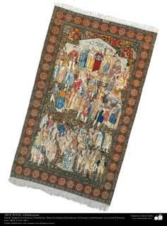 Persisches Teppich - Der Berühmte - hergestellt in der Stadt Kerman – Iran in 1911 - Islamische Kunst - Kunsthandwerk - Textilkunst - persische Teppiche