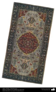 الفن الإسلامي - الحرف اليدوية - صناعة السجادة اليدوي الفارسی – أواسط القرن السادس عشر – 131