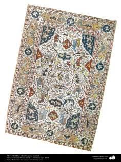 Alfombra persa - Enriquecido con hilo de metal, 1° mitad del siglo XVII