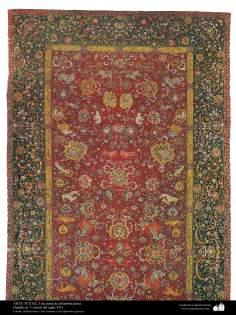 Ein Teil eines persischen Teppichs - 16. Jahrhundert - 278 - Islamische Kunst - Kunsthandwerk - Textilkunst - persische Teppiche