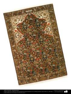 هنر اسلامی - صنایع دستی - هنر نساجی قالی -  قالیچه فارسی - کرمان ، ایران در سال 1887 - 110