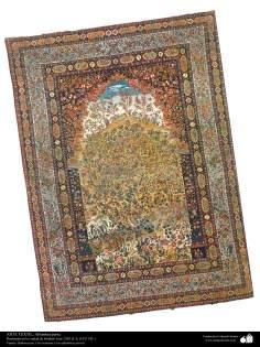 اسلامی فن - شہر اصفہان سے متعلق ہاتھ سے بنی ہوئی ایرانی قالین - سن ۱۹۱۱ء - ۱۹۷
