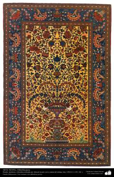 اسلامی فن - شہر اصفہان سے متعلق ہاتھ سے بنی ہوئی ایرانی قالین - سن ۱۹۱۱ء - ۱۰۴