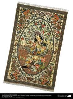Art islamique - artisanat - art du tissage de tapis  - tapis persan- Isfahan -Iran en 1921-88