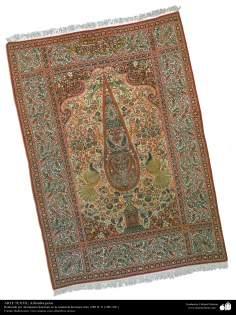 Persischer Teppich hergestellt in der Stadt Kerman – 1911