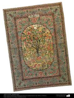 Persian Carpet woven in the ciyt of Kerman in 1901 C. E - Islamic Republic of Iran