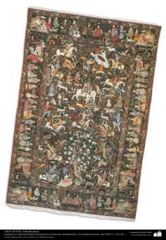هنر اسلامی - صنایع دستی - هنر نساجی قالی -  قالیچه فارسی - کرمان ، ایران در سال 1911 - 118