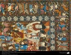 Art islamique - artisanat - art du tissage de tapis  -Une partie du tapis-