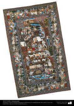 Art islamique - artisanat - art du tissage de tapis  - tapis persan- Kerman -Iran -171