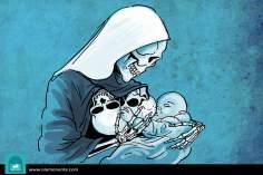 Caricatura - Amor de mãe