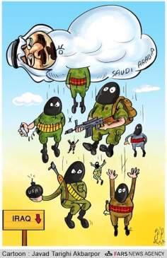 サウジアラビア、300以上のテロリストをイラクに派遣している最大なテロリズム(漫画)