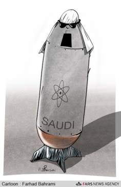 核兵器をつかんでいるサウジアラビア(漫画)