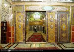 Architettura islamica-Vista del mausoleo di Fatima Masuma a Qom,Iran