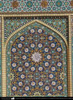 Islamic Architecture - View of a mosaic of geometric patterns in the sanctuary of Fatima Masuma (P) in the holy city of Qom (5)