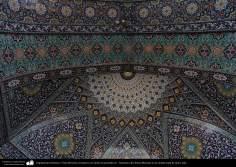 Arquitectura Islámica- Vista del techo, mosaicos con motivos geométricos - Santuario de Fátima Masuma en la ciudad santa de Qom (5)
