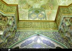 Islamic Architecture - calligraphies on the walls of the sanctuary of Fatima Masuma in the holy city of Qom (1)