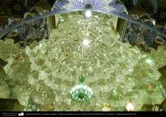 Islamic Architecture - Pendant and mirrors embedded near the tomb of Fatima Masuma in his sanctuary - holy city of Qom.