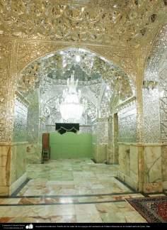 Arquitetura Islâmica - Corredor da sala dos espelhos do Santuário de Fátima Masuma (SA) na cidade Santa de Qom (33)