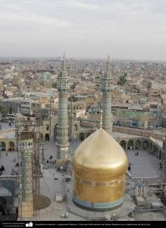 Arquitectura Islámica- Vista aérea del santuario de Fátima Masuma en la ciudad santa de Qom, Irán (4)