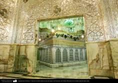 Arquitectura Islámica- Vista de la tumba desde la sala de espejos del Santuario de Fátima Masuma en la ciudad santa de Qom, Irán (12)