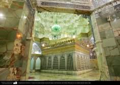 Architecture islamique - une vue  du sanctuaire de l'Imam Fatima Ma'soumeh et les miroirs au plafond-Qom-