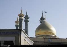 Architecture islamique - une vue sur le dôme et les minarets du sanctuaire de l'Imam Fatima Ma'soumeh - ville sainte de Qom -3