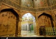 Arquitectura Islámica- Vista de sala antigua y la tumba de Fátima Masuma en la ciudad santa de Qom.