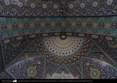 Islamic Architecture - View of roof tiles with geometric patterns - Shrine of Fatima Masuma in the holy city of Qom (5)