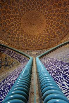 Arquitectura islámica- Vista interna de la cúpula de la mezquita Sheij Lotf Allah (o Lotfollah)-Isfahán- Irán (15)