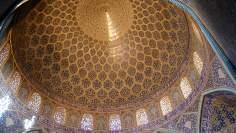 Arquitectura islámica- Vista interna de la cúpula de la mezquita Sheij Lotf Allah (o Lotfollah)-Isfahán- Irán (7)