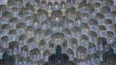 Исламская архитектура - Сталактиты - Внутренний фасад купола мечети Шейха Лютфуллы в Исфахане , Иран – 8