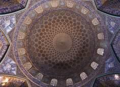 Arquitectura islámica- Vista interna de la cúpula de la mezquita Sheij Lotf Allah (o Lotfollah)-Isfahán- Irán (10)
