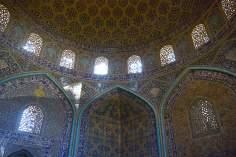Arquitectura islámica- Vista interna de la cúpula de la mezquita Sheij Lotf Allah (o Lotfollah)-Isfahán- Irán (11)